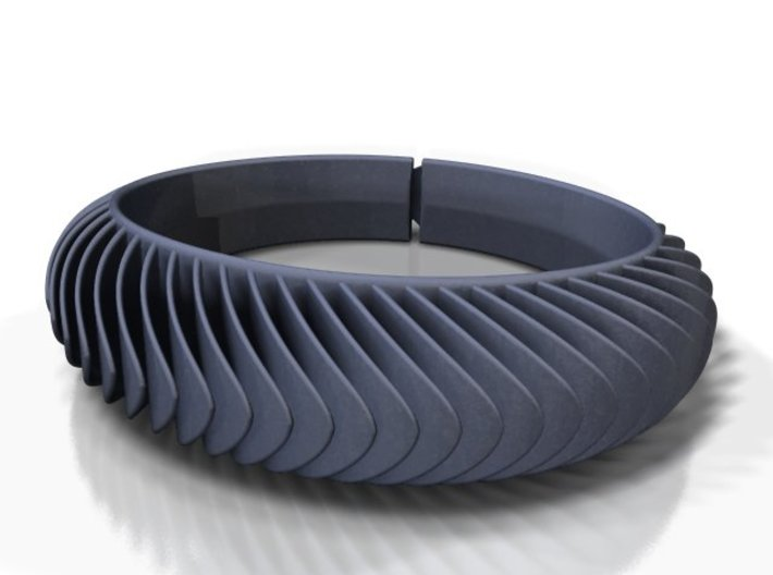 Blaadjesarmband-taps / Leaves bracelet tapered 3d printed
