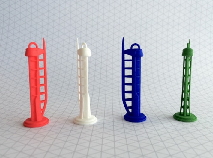Glasgow Tower model 3d printed