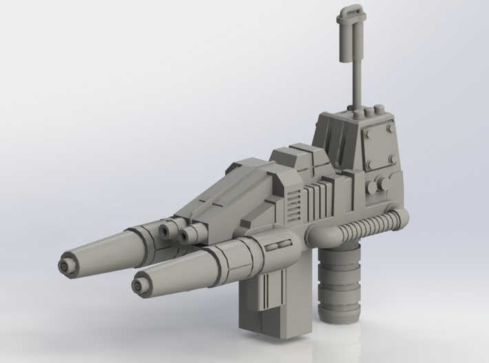FOC Grimlock Twin Blaster 3d printed As printed with sprue