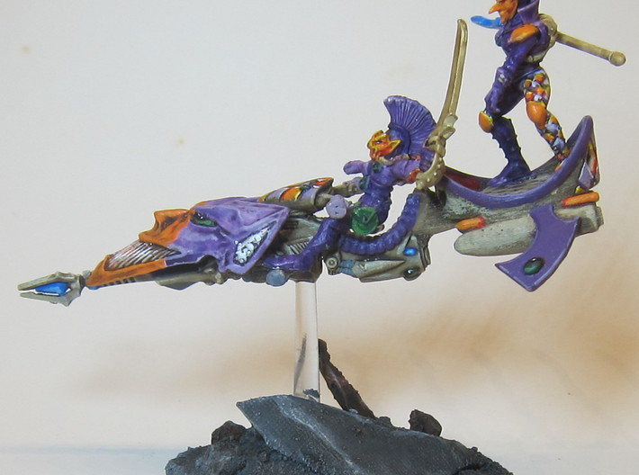 conversion part for old Harlequin Jetbike 3d printed Example of a completed model using this piece