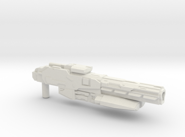 """Sentinel"" Rifle RESIZED 5mm post 3d printed"