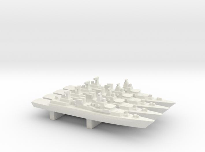 Brandenburg-class FFG x 4, 1/3000 3d printed