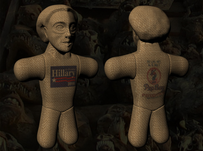 Hillary Clinton Voodoo Doll - Color 3d printed Hillary Clinton Voodoo Doll - Color