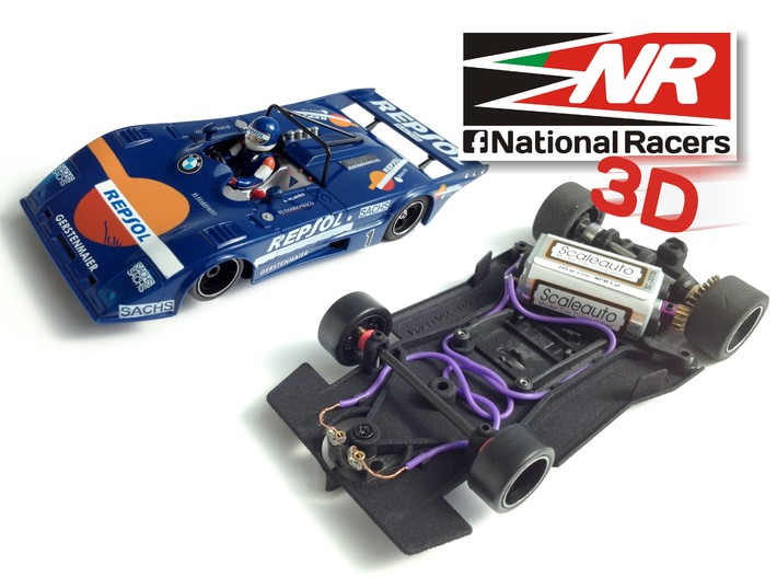 3D chassis - Power Slot Lola T-298 (AW) 3d printed
