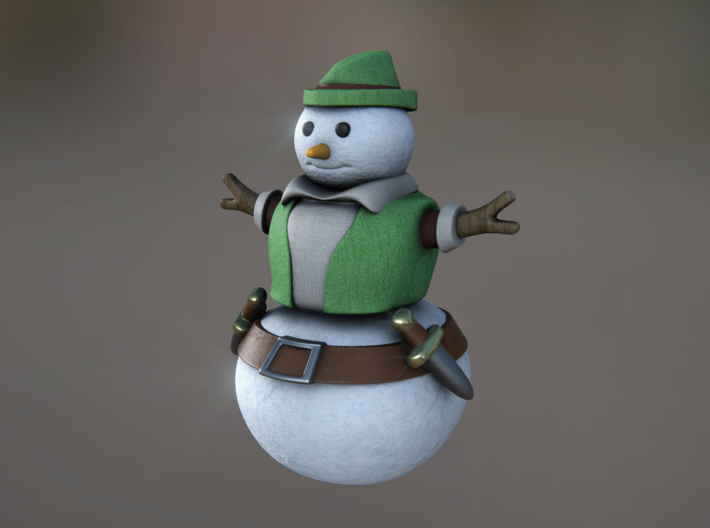 Snowman Thief 3d printed