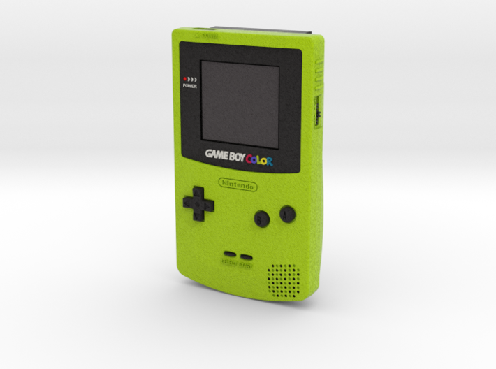 1:6 Nintendo Game Boy Color (Kiwi) 3d printed