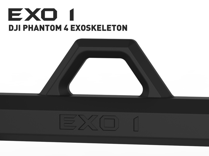EXO 1 Search & Rescue Exoskeleton - Rail Support 3d printed