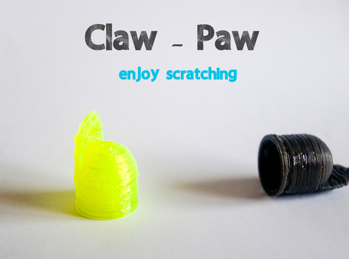 Claw-Paw Size Medium (18mm diameter) 3d printed Claw Paw