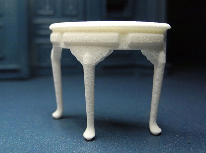 1:24 Queen Anne Demilune 3d printed Printed in White Strong & Flexible