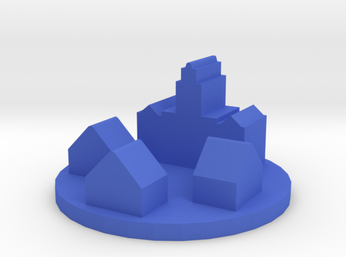 Game Piece, Colonial Town Token 3d printed