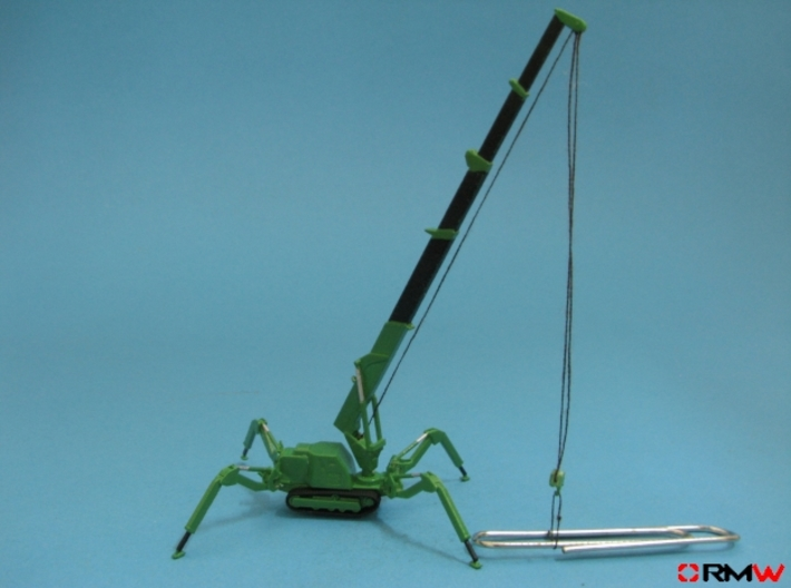 HO/1:87 Mini Crawler Crane Set B kit 3d printed [en]painted and assembled [de]bemalt und gebaut