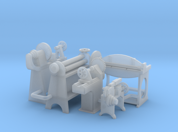 Small Metal Working Machines OO Scale 3d printed