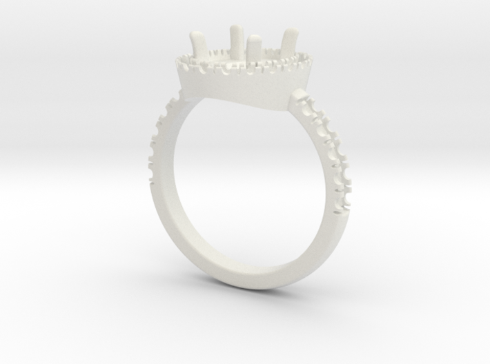Engagement ring with halo 3d printed