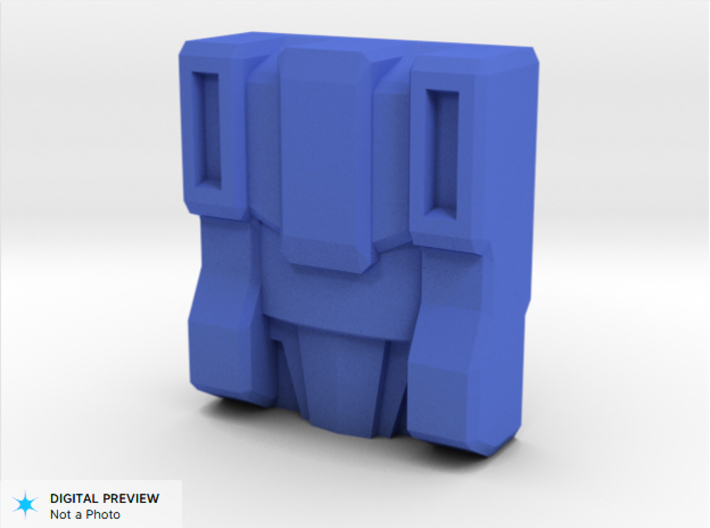 Slog Faceplate & Shell Kit (Titans Return) 3d printed Render of the Slog faceplate for a Titan Master figure,  included