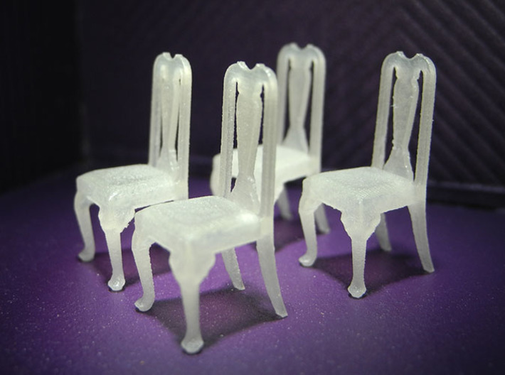 1:48 Queen Anne Chairs 3d printed
