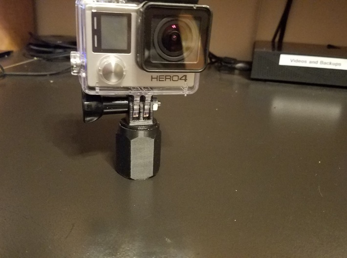 Extension Pole Gopro Mount super selfie pole 3d printed attached to gopro