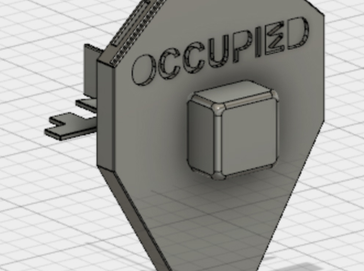 Portable Toilet Door Lock (1/3 - Shield) 3d printed Whole assembly