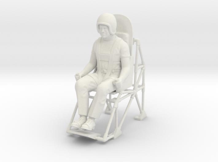 John P. Stapp / Rocket Sled Man 3d printed