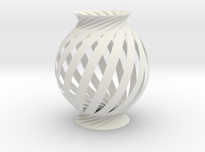 Lamp Ball Twist Spiral Inspired in Fold and Cut 3d printed