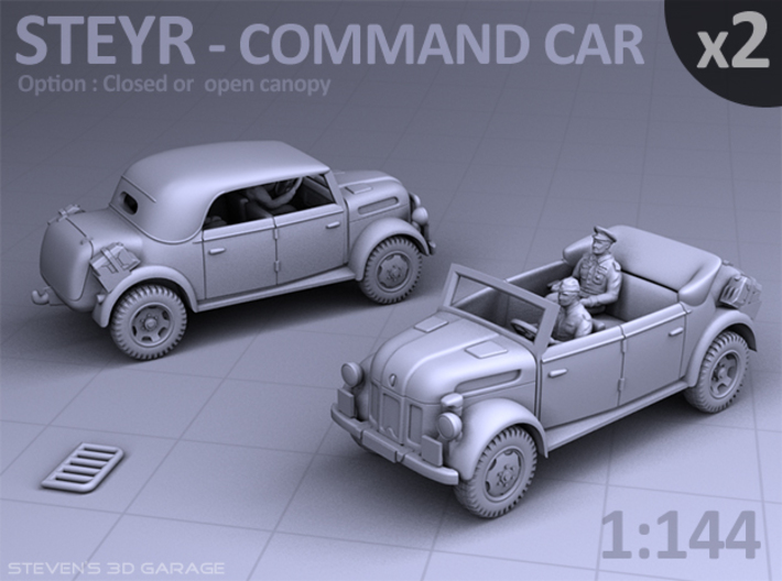 STEYR COMMAND CAR - (2 pack) 3d printed