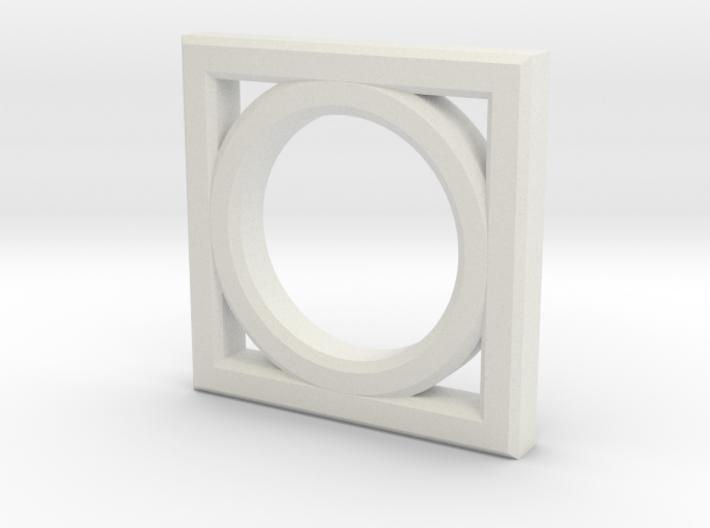 Circle Rectangle 3d printed