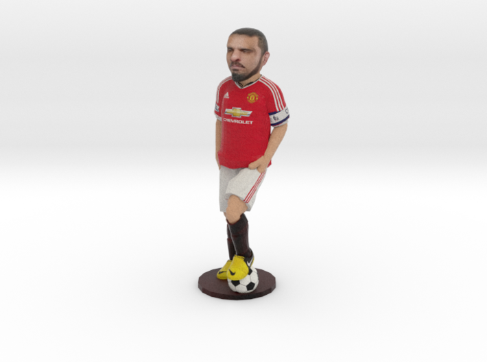 100cm Gift Footballer with your Face and Name 3d printed