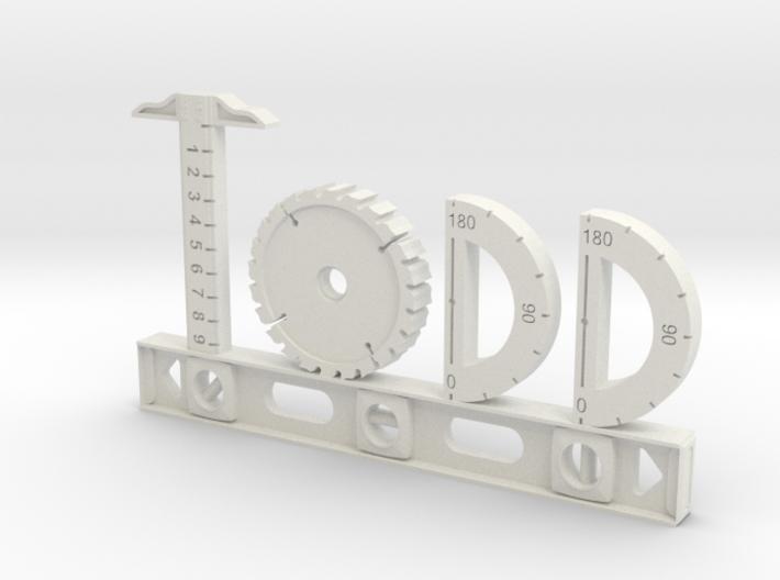 Todd Nametag 3d printed