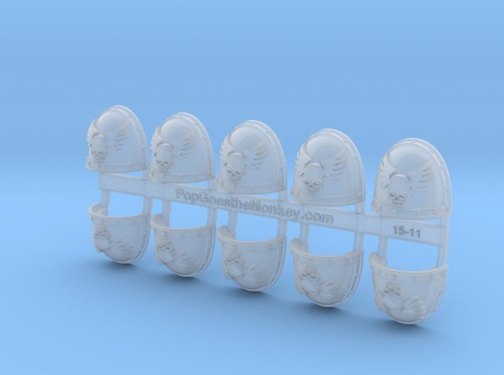 Angels Sanguine - Gen2:Crusader Shoulder x10 3d printed