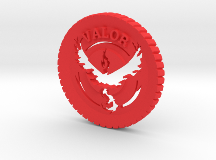 Pokemon Go Team Valor Challenge Coin 3d printed