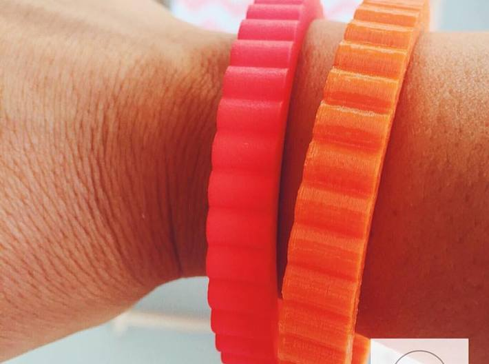 "Ingranaggi Bangle - 1cm Thick 3d printed Summer bangles - 1cm - ""Spinning Gear - Ingranaggi"" Collection"