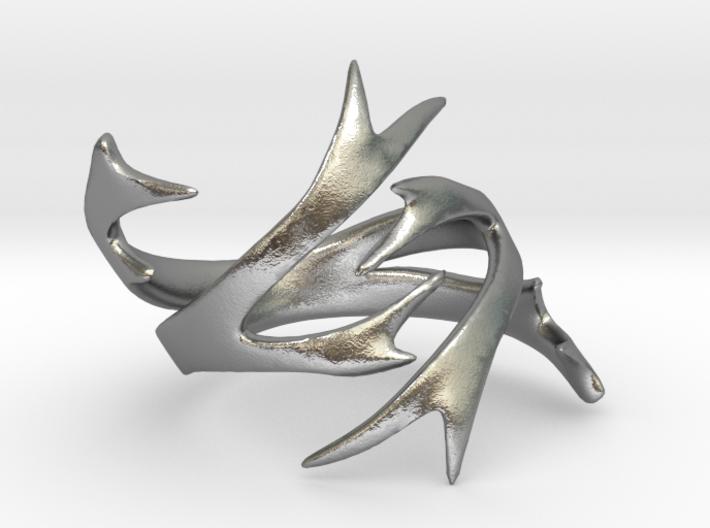Antler Ring Size 8 3d printed