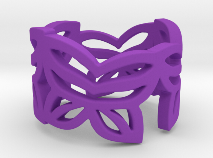 Butterfly leafs ring size 5 3d printed