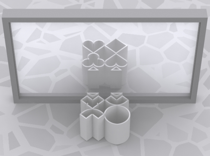 Improved Ambiguous Cylinder Illusion (Layout 8) 3d printed Computer-generated image