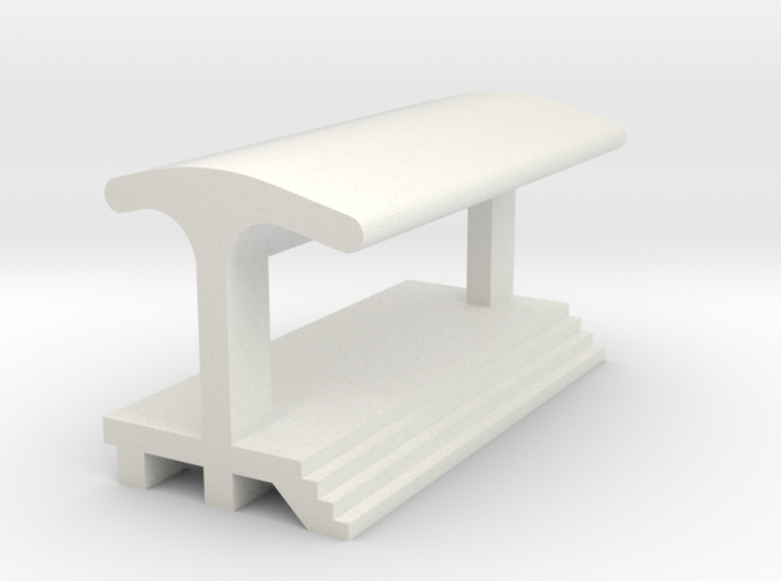 Straight Platform - With Shelter 3d printed
