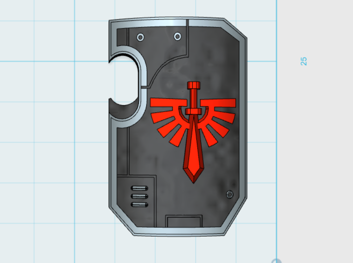 10x Angel Legion - Marine Boarding Shields w/Hand 3d printed
