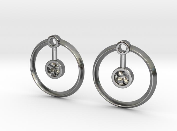 Hydrogen Earring 3d printed