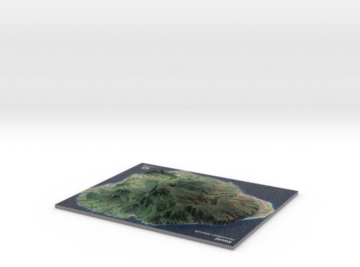 Kaua'i Map, Sans Base 3d printed
