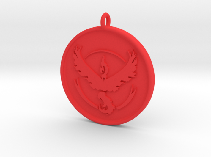 Pokemon Go - Valor Team Pendant - WITH YOUR NAME! 3d printed