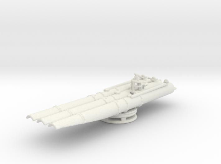 1/144 Scale USN Triple Torpedo Tubes WW2 3d printed