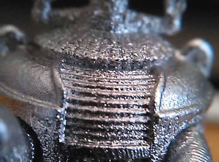 """1.22 inch Bot X-97-B9-D5 in""""Frosted Ultra Detail""""  3d printed Frosted Ultra Detail"""