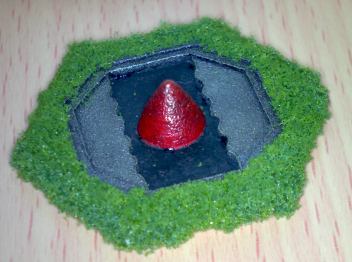 Missile Silo Hex(BT) x3 Batch 3d printed Hand Painted example