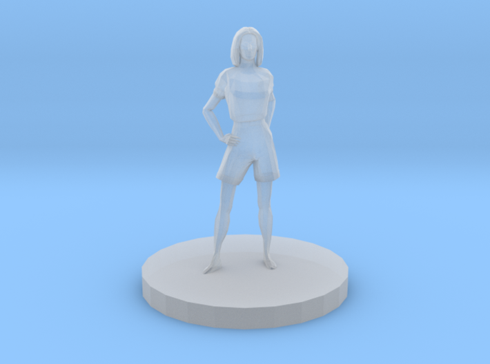 Woman With Hands At Hips 3d printed