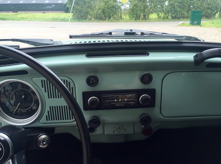 Front Philips Car Radio Beetle 1970 3d printed