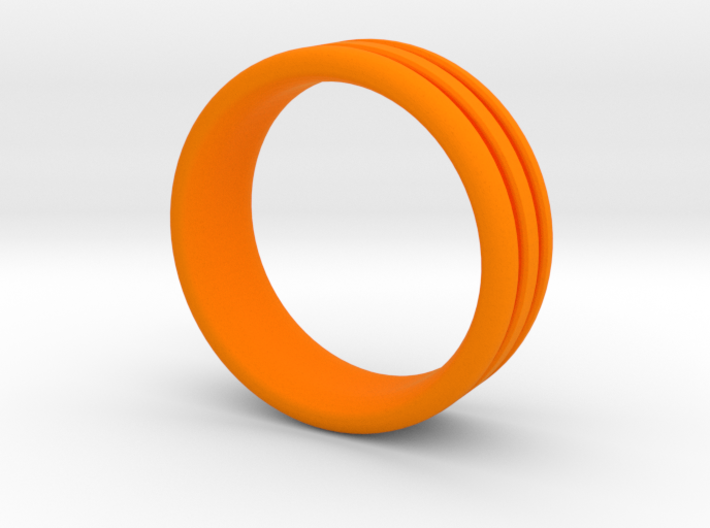 US10 O-Ring Ring: Glow (Plastic/Silver) 3d printed