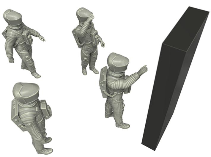 2001 Lunar Astronaut / Pos. 4 / 1:24 3d printed