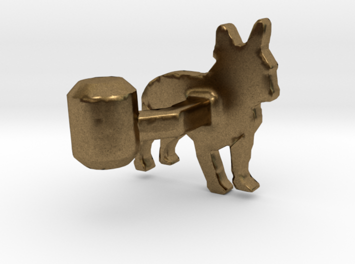 French Bulldog Cufflink 3d printed
