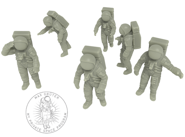 Apollo 11 Astronauts / 1:144 3d printed