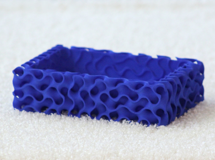 Gyroid Bowl Rectangle 3d printed