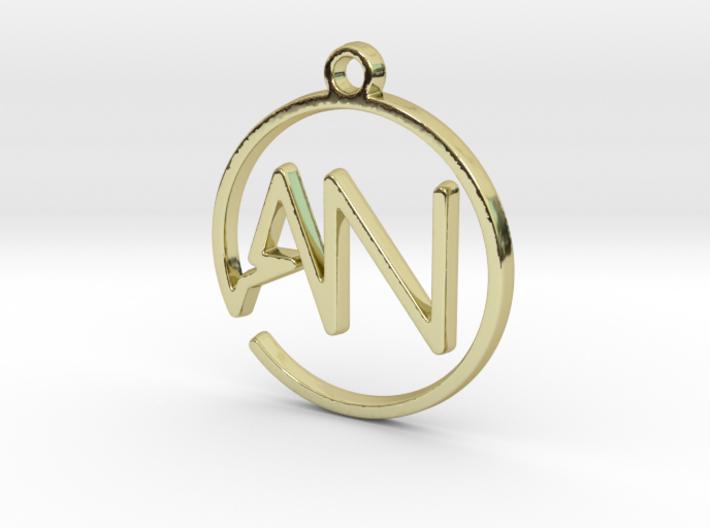 A & N Monogram Pendant 3d printed