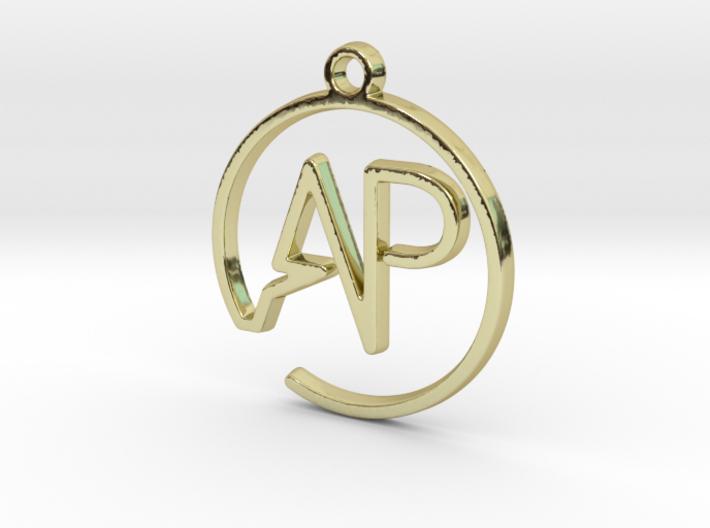 A & P Monogram Pendant 3d printed